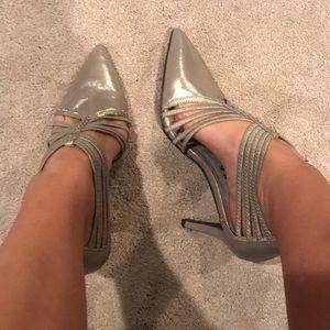 Sparkly well worn high heels